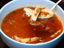 Zupa z kurczaka z parmezanem